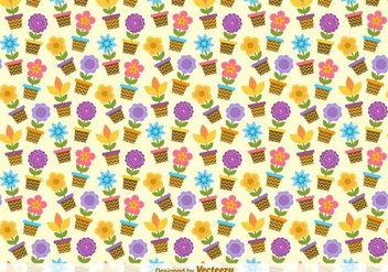 Flower Buckets Vector Pattern - Free vector #417239