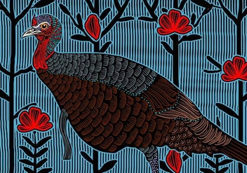 Wild Turkey Female - vector #417809 gratis