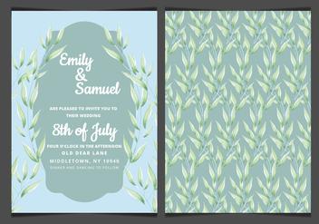 Vector Blue Elegant Wedding Invitation - Free vector #417859