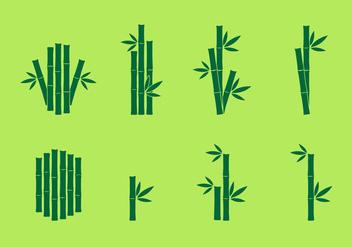 Bamboo Icon vector set - Free vector #417889