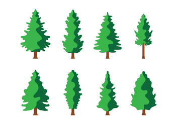 Free Pine Trees Vector - Free vector #417929