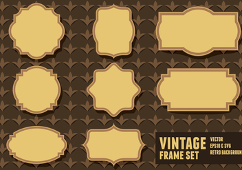 Vintage Frame Sets - Free vector #417969