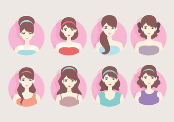 Headshot Bride Vector - Free vector #418189