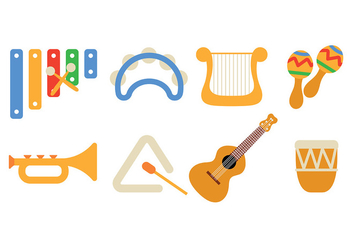 Music Instrument Icon Pack Vector - Free vector #418339