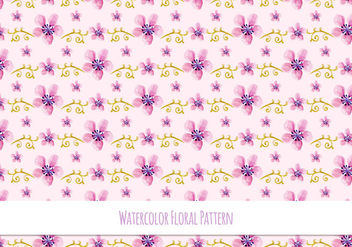 Cute Free Vector Floral Pattern - Kostenloses vector #418499