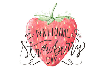Strawberry Day Illustration - Free vector #418639