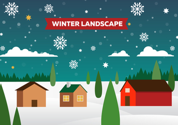 Free Winter Vector Landscape Illustration - Free vector #418999
