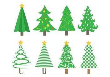 Sapin Vector Christmas Tree Icons - Free vector #419129