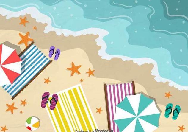 Beach Vector Background - Free vector #419159