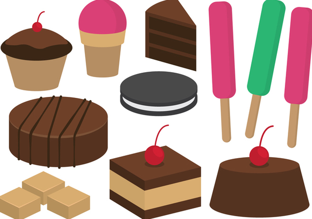 Desserts and Sweets Illustration - vector gratuit #419329