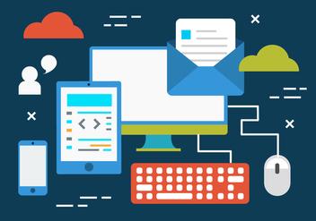 Free Digital Marketing Business Vector Illustration - Kostenloses vector #419349