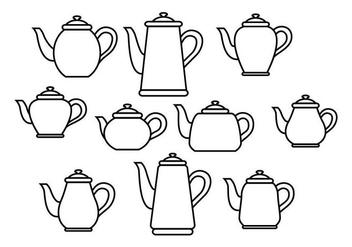 Free Teapot Vector - бесплатный vector #419389