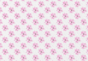 Free Vector Pink Spring Watercolor Flowers Pattern - бесплатный vector #419439