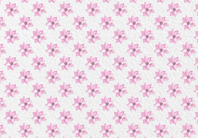 Free Vector Pink Spring Watercolor Flowers Pattern - Free vector #419439