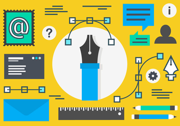 Free Flat Digital Marketing Concept Vector - Kostenloses vector #419449