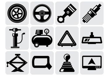 Free Car Parts Icons Vector - vector gratuit #419739