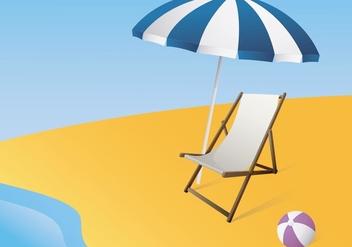 Illustration Of A Canvas Deck Chair - бесплатный vector #420079