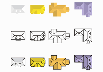 Purple and Yellow Rooftops Vector Design - Free vector #420099