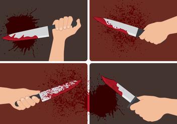 Bloody Hand Vectors - Kostenloses vector #420179