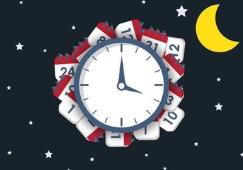Night Deadline Vector Illustration - Kostenloses vector #420299