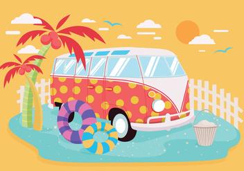 VW Camper Vector - vector gratuit #420339