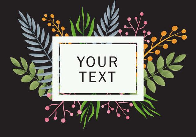 Dark Floral Liana Background - Free vector #420359