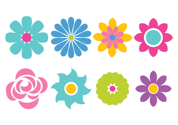 Flower Icon Vector - Free vector #420519