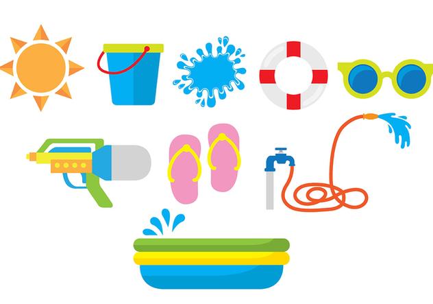 Songkran Icons - Free vector #420659