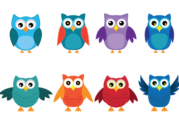 Cute Bright Buho Icons - Free vector #420669