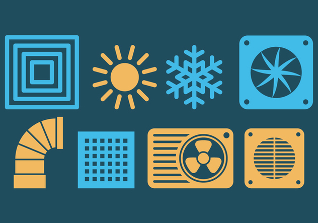 HVAC Icons - Free vector #420679