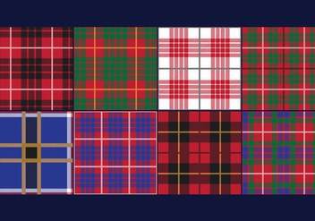 Lumberjack Tartan and Buffalo Check Plaid Patterns - vector gratuit #420699