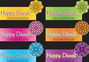 Mandala Diwali Banner Vectors - Free vector #420869