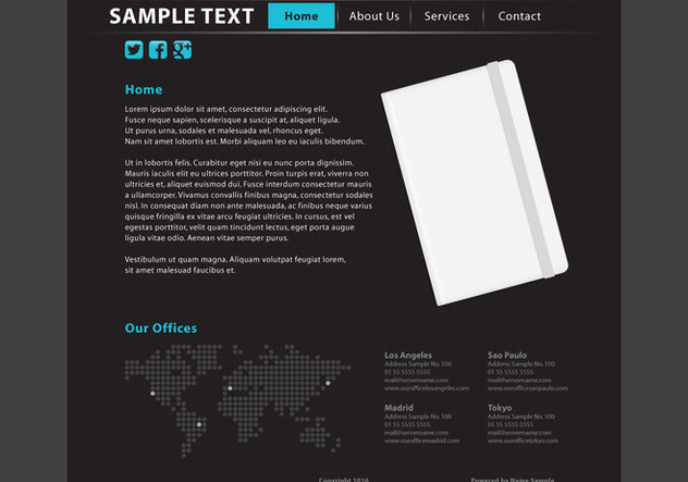 Web Page Vector Template - Free vector #420899