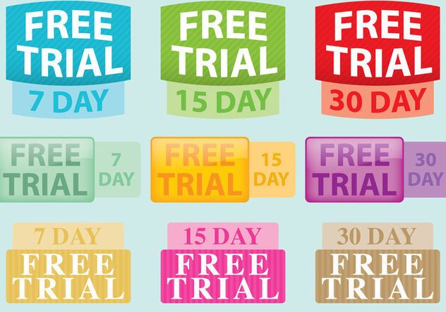 Free Trial Vector Labels - Free vector #420909