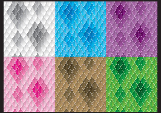 Colorful Snake Patterns - Free vector #420919