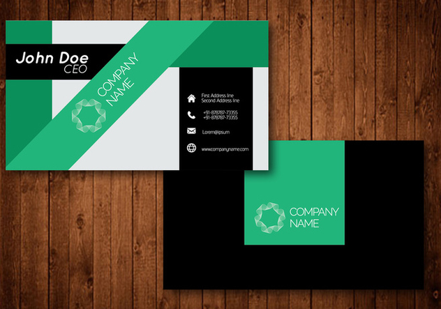 Creative Business Card - vector gratuit #420969