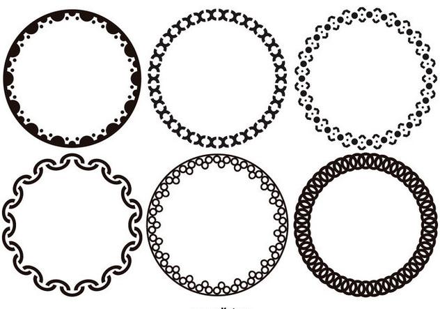 Funky Decorative Vector Frames - Free vector #420999