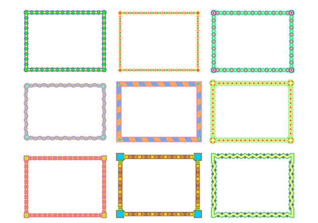 Landscape Border Funky Frames Free Vector - бесплатный vector #421019