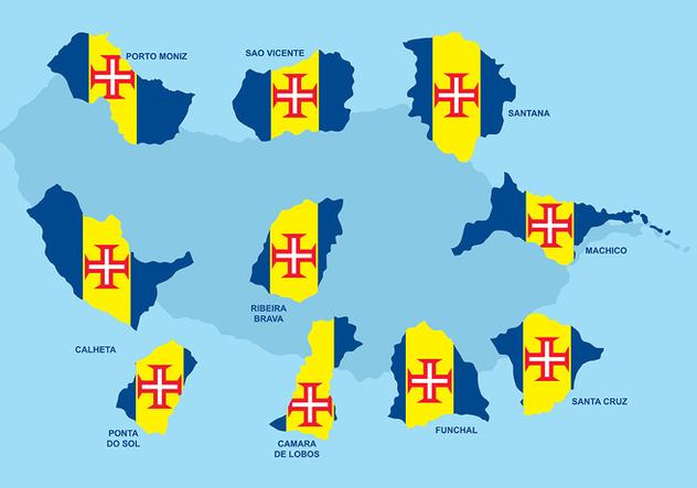 Madeira Maps Vector - Free vector #421139