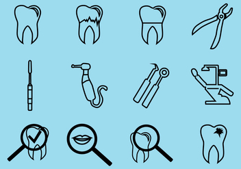 Dental Icon Vector Pack - Kostenloses vector #421389