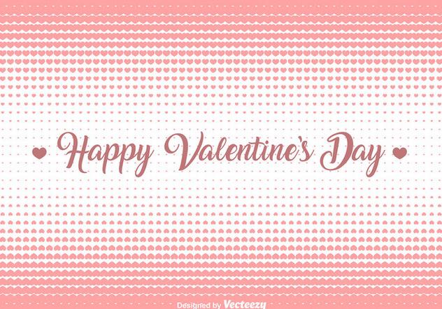 Vector Hearts Halftone Background - Kostenloses vector #421429