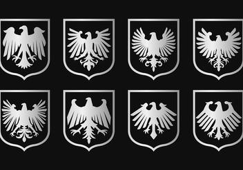 Eagle Seal Symbol Vectors - Free vector #421489