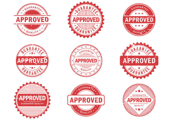 Approved Stempel Vectors - бесплатный vector #421669