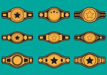 Championship Belt Icon Set - Free vector #421709