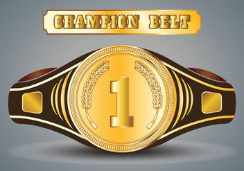 Championship Belt Vector - Free vector #421719