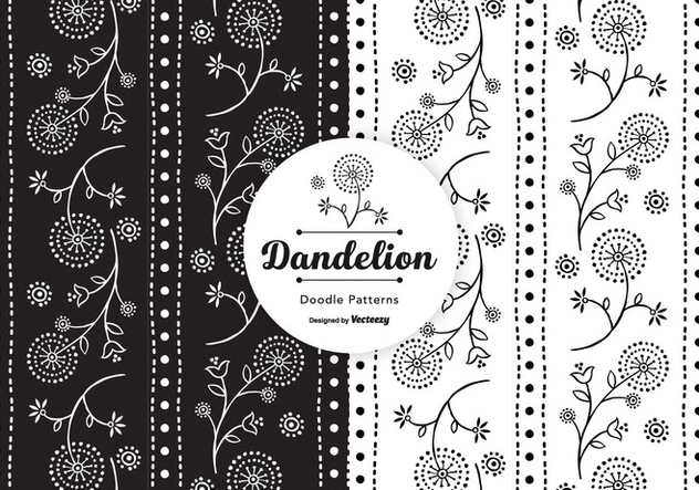 Doodle Blowball Vector Seamless Patterns - Free vector #421759