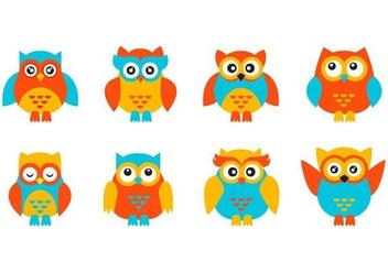 Free Cute Character Owl Vector - vector gratuit #421869