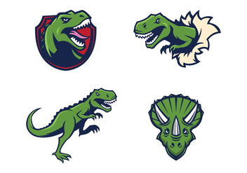 Free Dinosaurs Mascot Vector - Free vector #421899