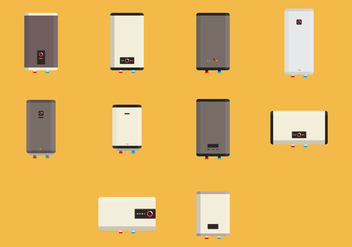 Colored Heater Icon Set - Free vector #421949