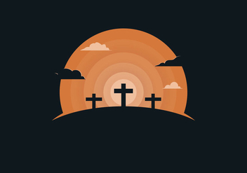 Free Holy Week Background Illustration - Free vector #422039